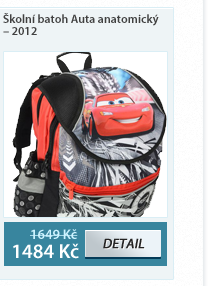 Školní batoh Auta