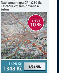 nástěnná mapa ČR