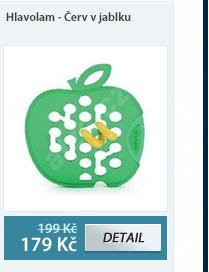 Hlavolam - Červ v jablku