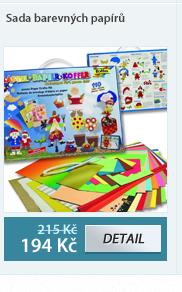 Sada barevných papírů na výrobu dekorací