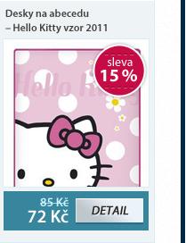 Desky na abecedu - Hello Kitty vzor 2011