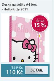Desky na sešity A4 box s gumou - Hello Kitty vzor 2011