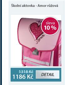 Školní aktovka - Amor růžová