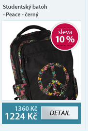 Studentský batoh - Peace - černý