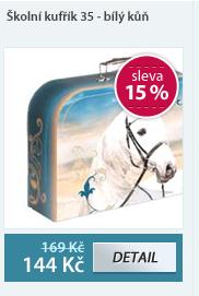 Školní kufřík 35 - bílý kůň