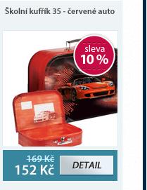 Školní kufřík 35 - červené auto
