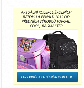 Aktuální kolekce školních batohů a penálů 2012