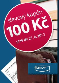 Slevový kupón na 100 Kč při nákupu v obchodě www.sevt.cz