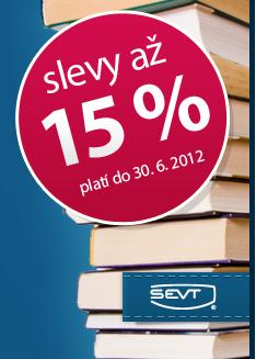 Slevy až 15 % na nákup učebnic. Platí pouze do 30. 6. 2012.