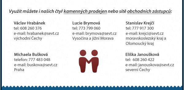 Síť obchodních zástupců po celé ČR