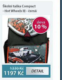 Školní taška Compact - Hot Wheels III - černá