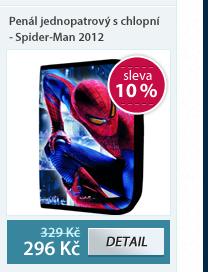 Penál jednopatrový s chlopní - Spider-Man vzor 2012