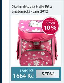 Školní aktovka Hello Kitty anatomická- vzor 2012