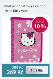 Penál jednopatrový s chlopní - Hello Kitty vzor 2012