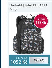 Studentský batoh DELTA 02 A černý