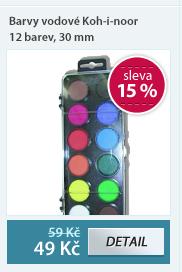 Barvy vodové Koh-i-noor 12 barev, 30 mm
