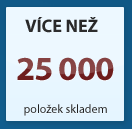 Více než 25000 položek skladem