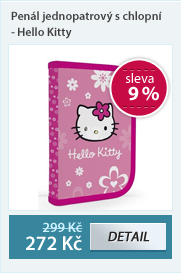 PP Penál jednopatrový s chlopní - Hello Kitty vzor 2012