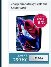 PP Penál jednopatrový s chlopní - Spider-Man vzor 2012
