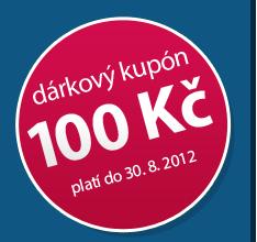 Slevový kupón na 100 Kč platí do 31. 8. 2012