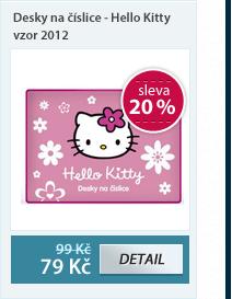 PP Desky na číslice - Hello Kitty vzor 2012