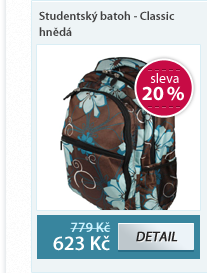 Studentský batoh - Classic hnědá