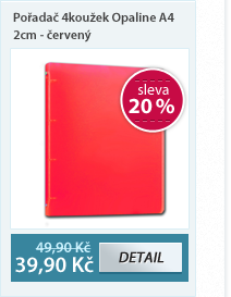 PP Pořadač 4koužek Opaline A4 2cm - červená