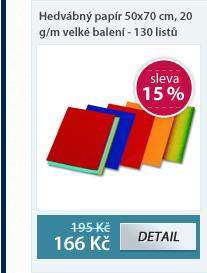 Hedvábný papír 50x70 cm, 20 g/m velké balení - 130 listů v 5 barvách