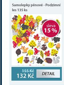 Samolepky pěnové - Podzimní les 135 ks