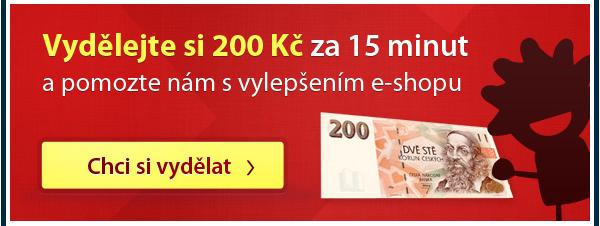 Vydělejte si 200 Kc