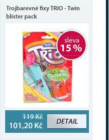 Trojbarevné fixy TRIO - Twin blister pack