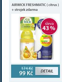 Airwick freshmatic ( citrus ) + strojek zdarma