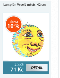 Lampión Veselý měsíc, 42 cm