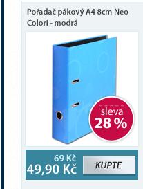 PP Pořadač pákový A4 8cm Neo Colori - modrá