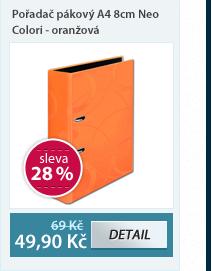 PP Pořadač pákový A4 8cm Neo Colori - oranžová