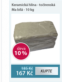 Keramická hlína Pávek - točírenská Ma bílá - 10 kg