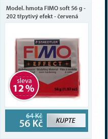 Modelovací hmota FIMO soft 56 g - 202 třpytivý efekt - červená