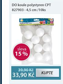 DO koule polystyren CPT 827903 - 4,5 cm /10ks