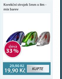 Europen Korekční strojek 5mm x 8m - mix barev