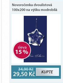 Helma Novoročenka dvoulistová 100x200 na výšku - modrobílá
