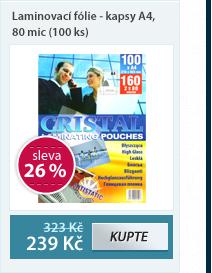 Laminovací fólie - kapsy A4, 80 mic (100 ks)