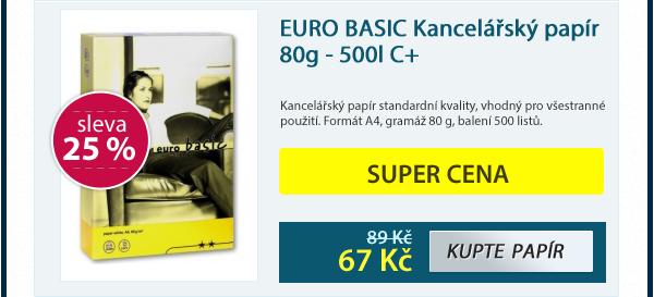 EURO BASIC Kancelářský papír 80g - 500listů
