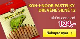 Koh-i-noor Pastelky dřevěné silné 12