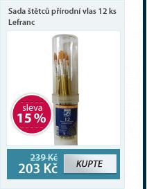Sada štětců přírodní vlas 12 ks Lefranc