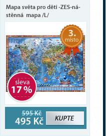 Dětská mapa světa -ZES- nástěnná mapa