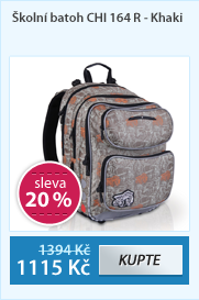 Školní batoh CHI 164 R - Khaki