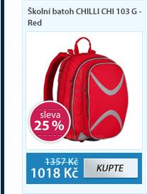 Školní batoh CHILLI CHI 103 G - Red