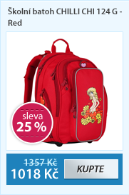 Školní batoh CHILLI CHI 124 G - Red