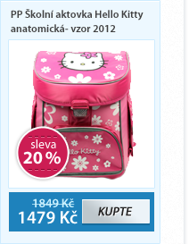 PP Školní aktovka Hello Kitty anatomická- vzor 2012