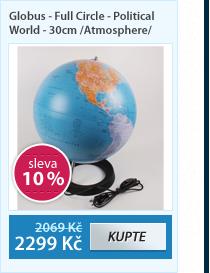 Globus Iron National Geographic 30 cm na vysoké noze